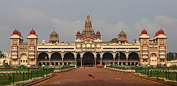 Mysore Palace, the former seat of the Wodeyar dynasty, is one of Karnataka's main tourist attractions.