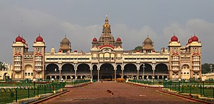 Wadiyar dynasty - Image: Mysore Palace Morning