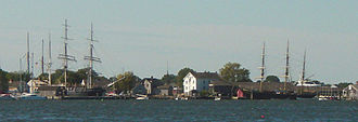Mystic Seaport - from the Mystic River Estuary