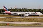N787AL American Airlines Boeing 777-223(ER) coming in from Dallas (DFW) @ Frankfurt (FRA) 08.05.2018 (27112378627).jpg