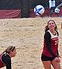 NCAA sand volleyball match at FSU, April 2014 (13944621714).jpg