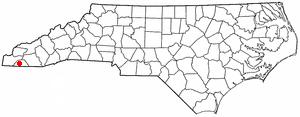 Hayesville, North Carolina - Image: NC Map doton Hayesville