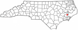 Location of Mesic, North Carolina