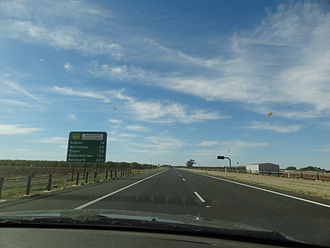 North–South Corridor, Adelaide - The Max Fatchen Expressway, heading north-east towards Gawler in April 2012