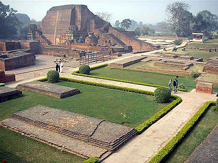 The Buddhist Nalanda university and monastery was a major center of learning in India from the 5th century CE to c. 1200. Nalanda university.jpg