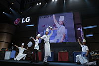 Nanta performance at the LG Life Tastes Good Championship at Grand Hyatt Erawan Hotel, Bangkok, Thailand.jpg