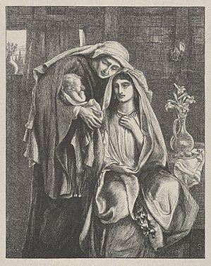Naomi and the Child Obed (Dalziels' Bible Gallery) MET DP835620