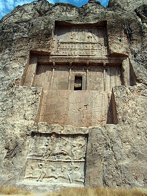 Tomb of Darius I - View of Tomb of Darius the Great in Naqsh-e Rustam