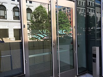 National League of Cities - National Association of Counties and National League of Cities doorway in Washington, DC.