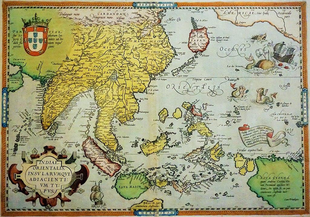 Abraham Ortelius Map of Southeast Asia