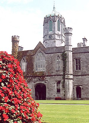 Queen's University of Ireland - The quadrangle of the former Queen's College, Galway is dominated by a clock tower