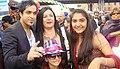 Navin Kundra & her cousin Dr Suman Tandon & her daugter at Anjali Sony TV Diwali Mela, Newyork, 2010.jpg