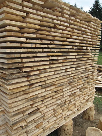 Wood drying - Air-drying timber stack