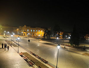 Negotin - Town center of Negotin at night