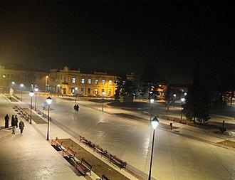 Negotin - Town center of Negotin at night