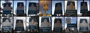 Neighborhoods in Saint Paul, Minnesota - Saint Paul neighborhood markers.