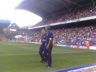 Keith Curle - Curle (right) in 2008