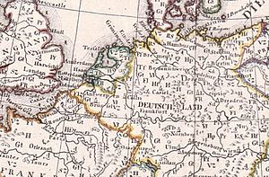 August Friedrich Wilhelm Crome - Detail of Crome's 1782 map: Codes on the map locate production areas.