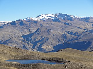 Mismi mountain in the Andes of Peru