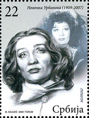 Nevenka Urbanova - Nevenka Urbanova on a 2009 Serbian stamp