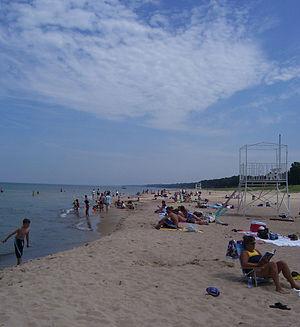 New Buffalo, Michigan - A beach in New Buffalo
