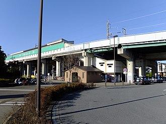 Uchijuku Station - Image: New Shuttle Uchijuku Sta. entrance 20151104 03