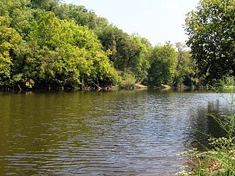 Newport, Tennessee - The Pigeon River in Newport