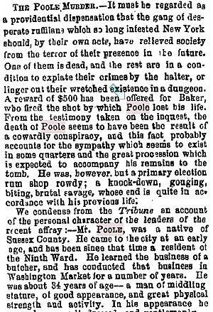 William Poole - Brooklyn Eagle, March 10, 1855 (partial)