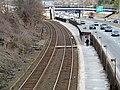 Newtonville station from Walnut Street, March 2013.JPG