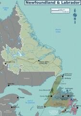 Regionalkarte Neufundland und Labrador