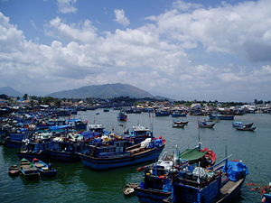 The fishing harbour in Nha Trang.