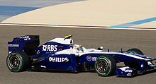 Photo de la Williams FW32 de Nico Hülkenberg à Sakir