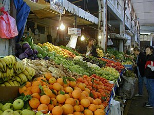 Agriculture in Cyprus - Fruit market in Nicosia