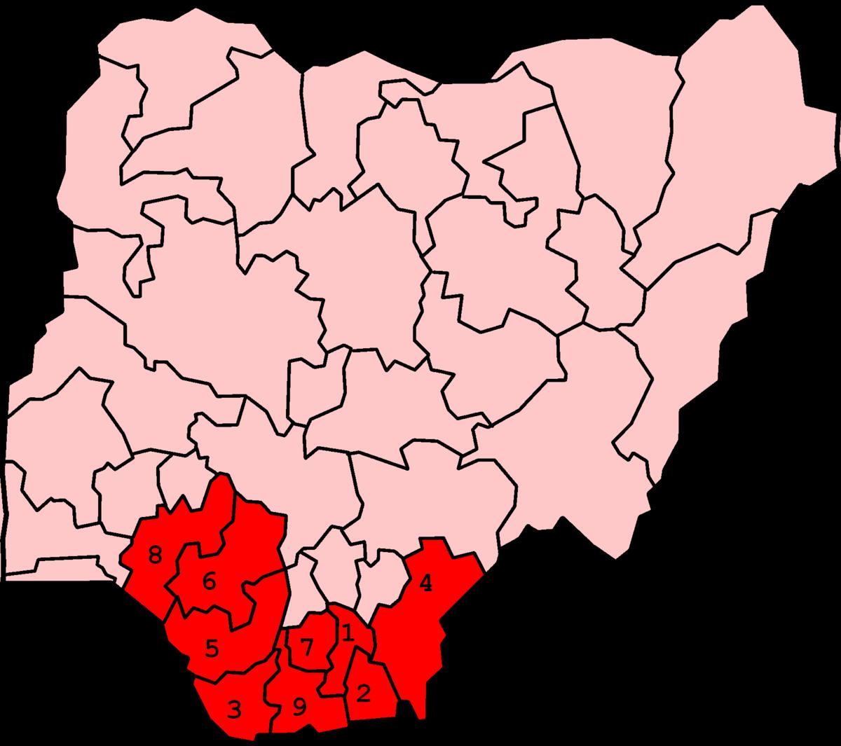 Niger Delta Wikipedia - Niger map hd pdf