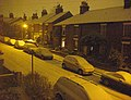 Night-time snow scene in Roman Road (1) ... - geograph.org.uk - 1147906.jpg