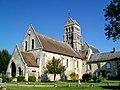 Nogent-sur-Oise (60), église Sainte-Maure-et-Sainte-Brigide, depuis le sud-ouest, place de l'Église.jpg