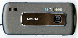 Nokia 6210 Navigator - The back of the 6210 Navigator, showing the 3.2 megapixel camera