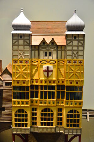 Nonsuch House - Nonsuch House on London Bridge, model at Docklands Museum at London.