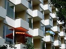 Fassadendetail Wohnhaus Loschmidtstraße, 1958/59