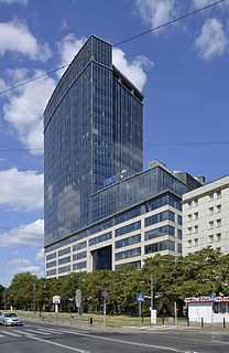 office skyscraper in Warsaw