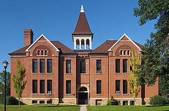 North Mankato, Minnesota - The old North Mankato Public School building, now Belltower Apartments, is listed on the National Register of Historic Places