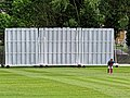 North Middlesex Cricket Club sight screens Crouch End, Haringey, London.jpg