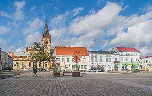 Northern frontage of the Market Square in Swiecie 02.jpg