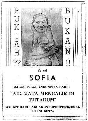 Air Mata Mengalir di Tjitarum - Image: Not Rukiah but Sofia