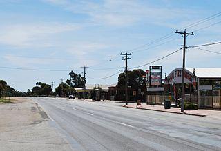 Nyah Town in Victoria, Australia