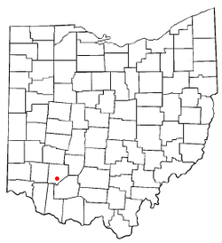 Location of Martinsville, Ohio