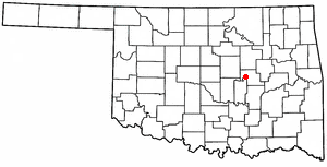 Boley, Oklahoma - Image: OK Map doton Boley