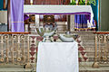 Objects used in baptism, Church Santa Barbara.jpg