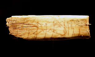 Ochre horse illustration from the Creswell Crags; 11000-13000 BC.[20]