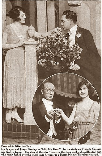 Oh, My Dear! - Oh, My Dear! (top) Ivy Sawyer with Joseph Santley, (circle) Frederic Graham and Evelyn Dorn Green Book Magazine, 1919